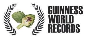 Guinness record of grilled artichokes